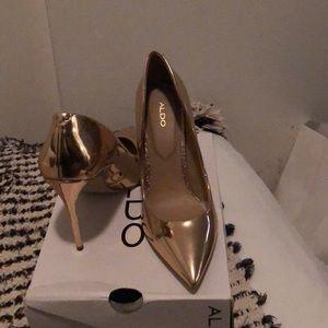 Aldo Stessy Metallic Heels